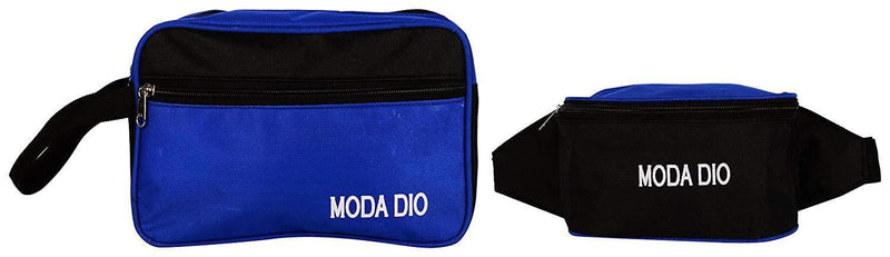 Moda Dio Nylon Blue and Black Soft Sided Luggage Set - Celestech Smartwatch & Bands, Wireless Earbuds, Audio