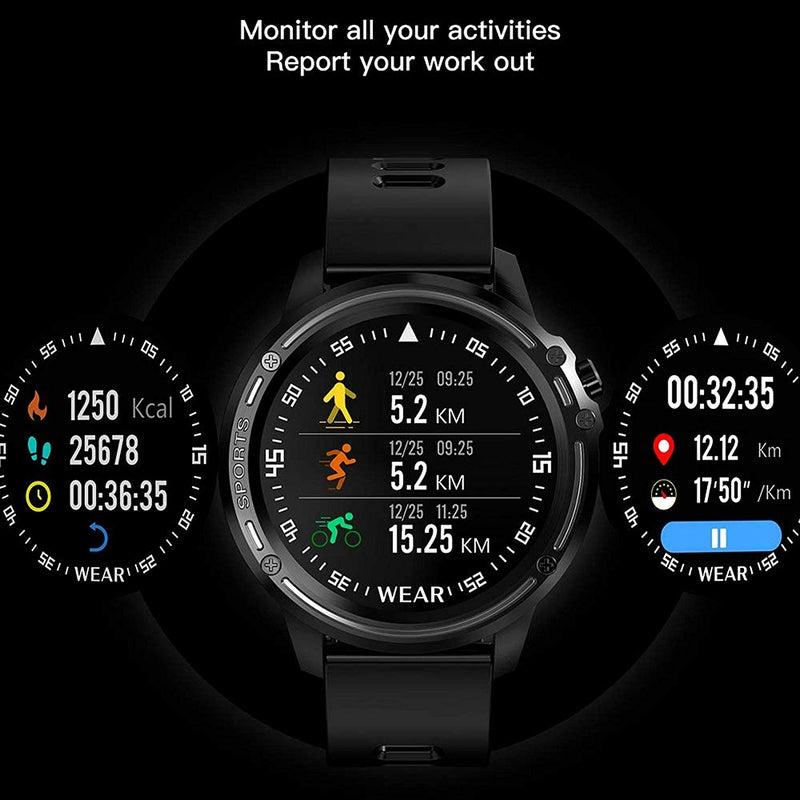 Celestech Firestarter L8 Smart Watch IP68 Waterproof Smart Watch with ECG PPG Blood Pressure Heart Rate Sports Fitness Watch for All Smartphones - Black from celestech-inc.myshopify.com