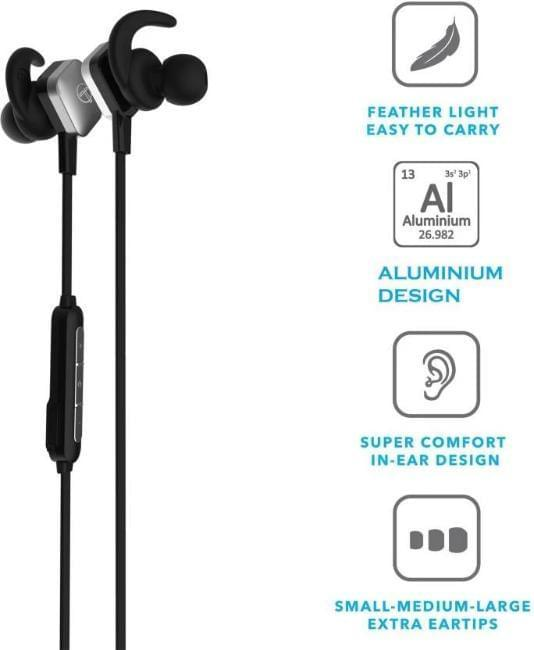 CelesTech CT512 Wireless Bluetooth Sports Headset with in Built Mic (Black) - Celestech Smartwatch & Bands, Wireless Earbuds, Audio