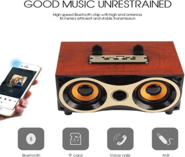 CTXM6 Wooden Retro Bluetooth Wireless Speaker - Celestech Smartwatch & Bands, Wireless Earbuds, Audio
