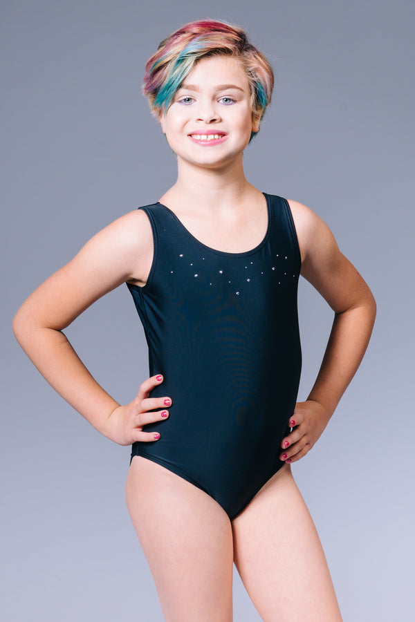 Felicity Leotard with Rhinestuds Black