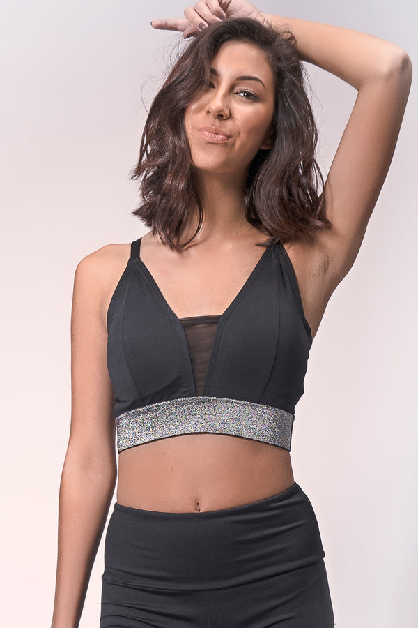 Luna V-neck Sports Bra