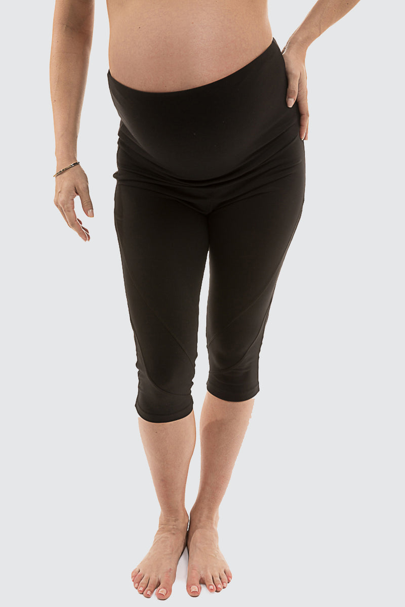 Maternity Matrix Capri Medium Impact Black