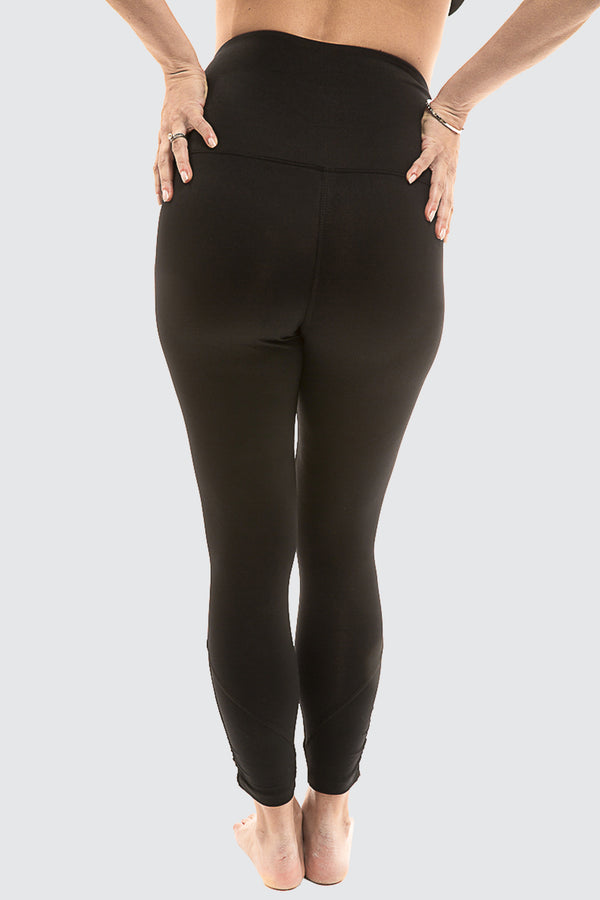 Maternity Matrix Leggings Medium Impact with Belly Support Black