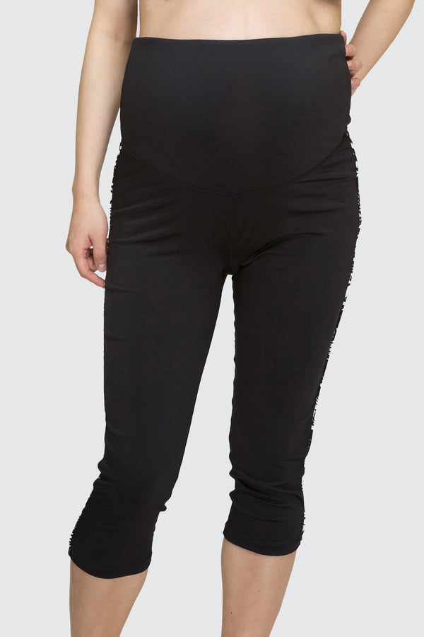 Maternity Slim Fit Capri Black
