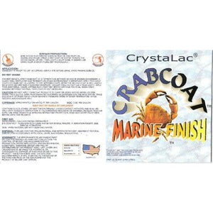 Crystalac CrabCoat Marine Finish UV Top Coat