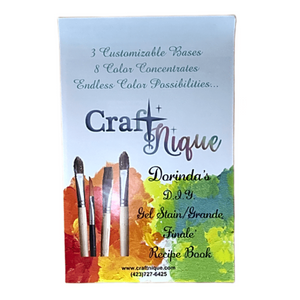 CraftNique Custom Gel Stain Recipe Book