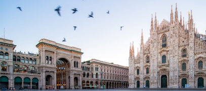 Duomo Milan cathedral. LA MILLA - Ethical and Sustainable ECO Fair Fashion