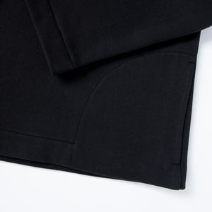 Black eco smock. GOTS certified textile. 100% natural. Sustainable fashion.