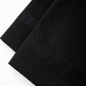 Black eco elegant trousers. GOTS certified textile. 100% natural. Sustainable fashion.