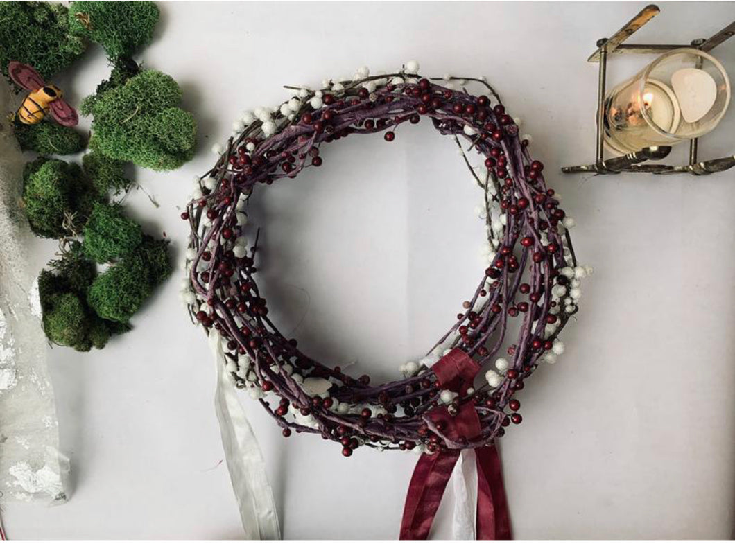 Sugared berry wreath