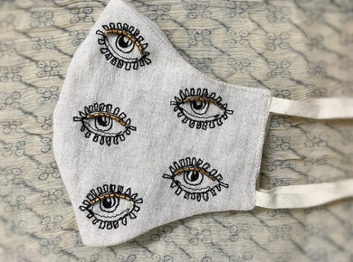 (Pre- Order)- Skippy Cotton Protective Eye Face Mask , - PARCEL