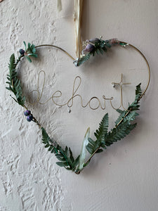 Wire Heart Wreath - PARCEL