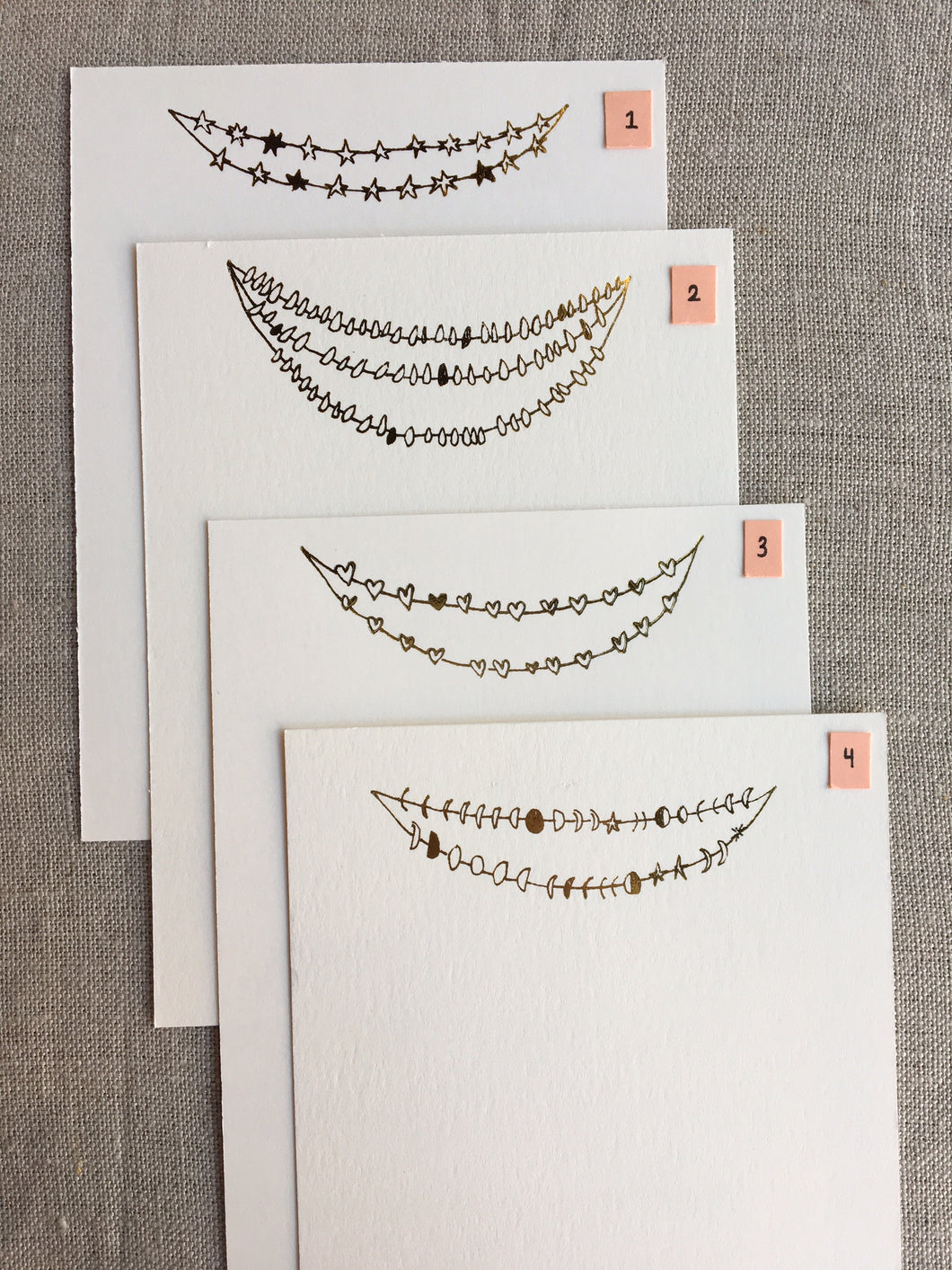 Foil-pressed garland cards - PARCEL