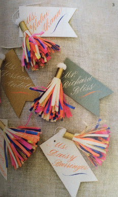 Custom Tassel Place Cards