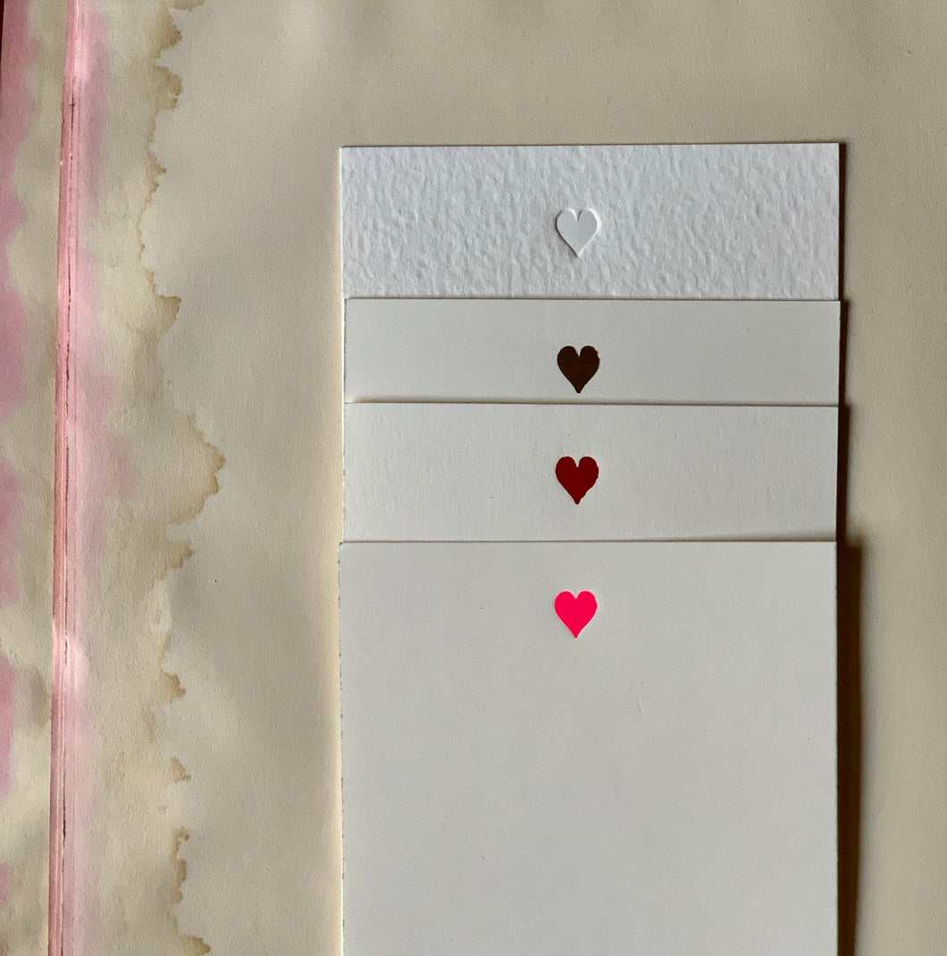 Tiny Heart Foil-pressed Notecards