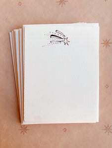 Shooting Star Foil Pressed Stationery Set - PARCEL