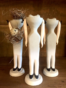 Vintage Headless Ceramic Doll Forms - PARCEL