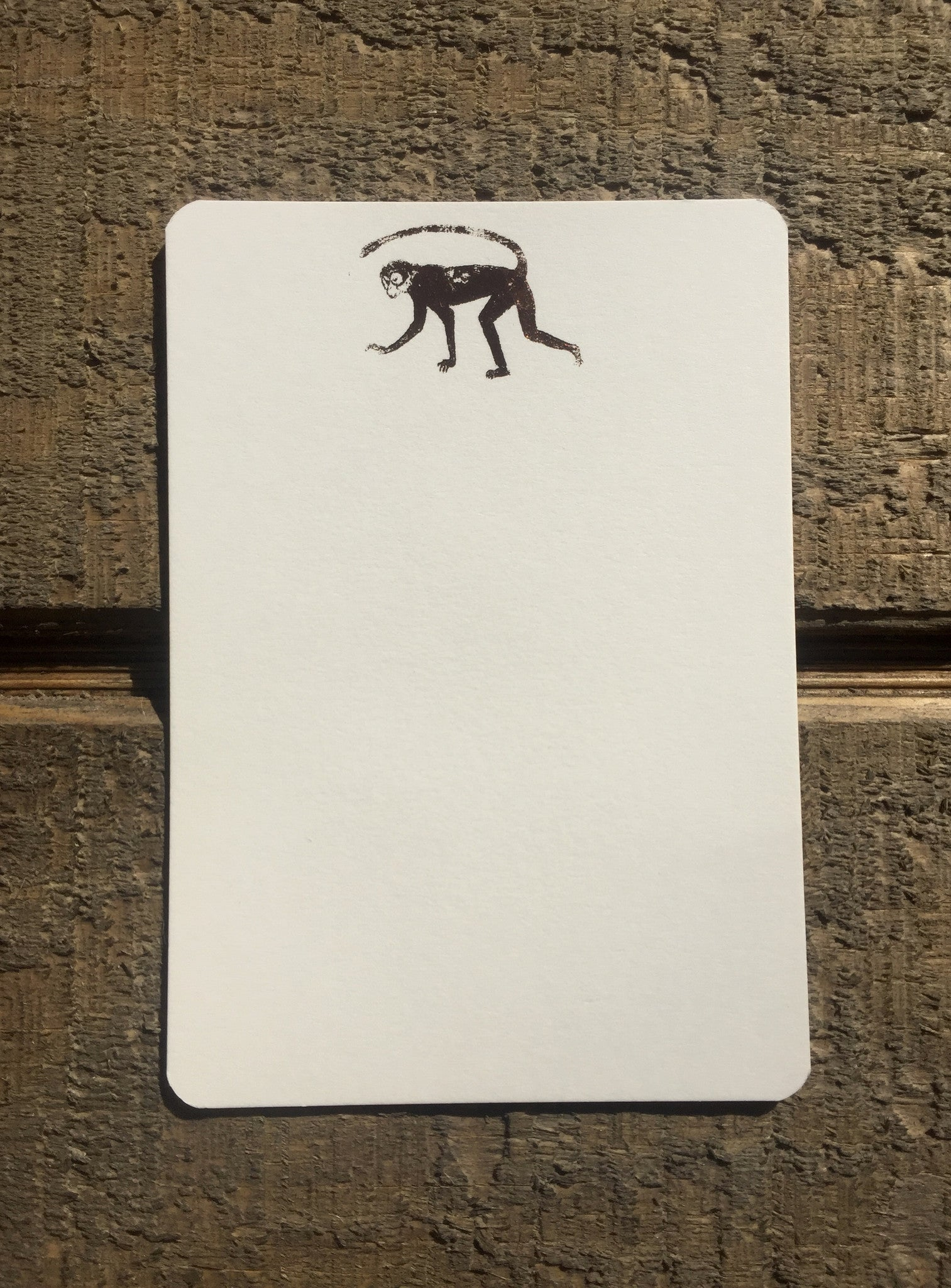 Rose Gold Foil Monkey Card