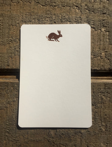 Foil Pressed Rabbit Card