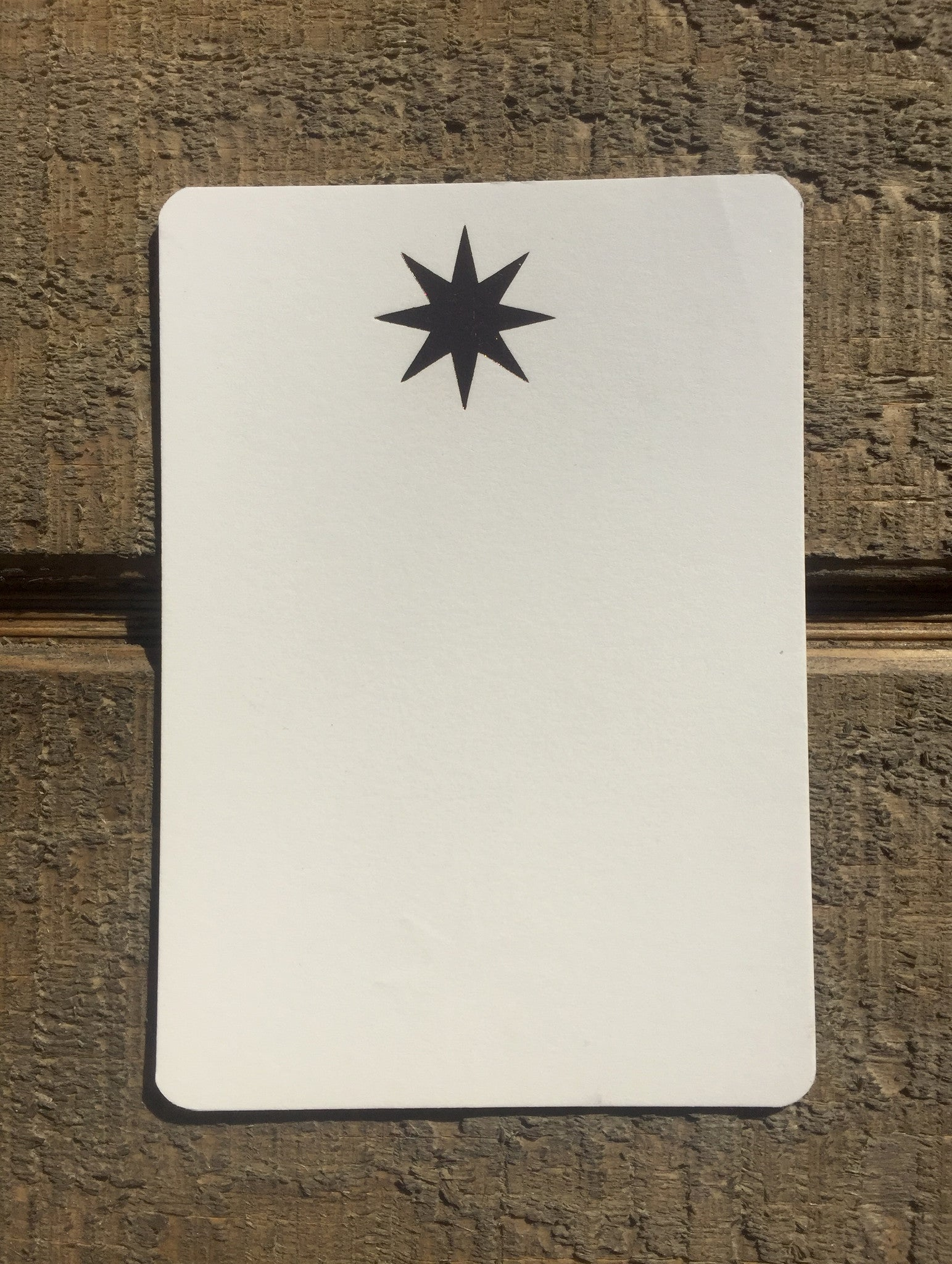 Foil Pressed Starburst Card