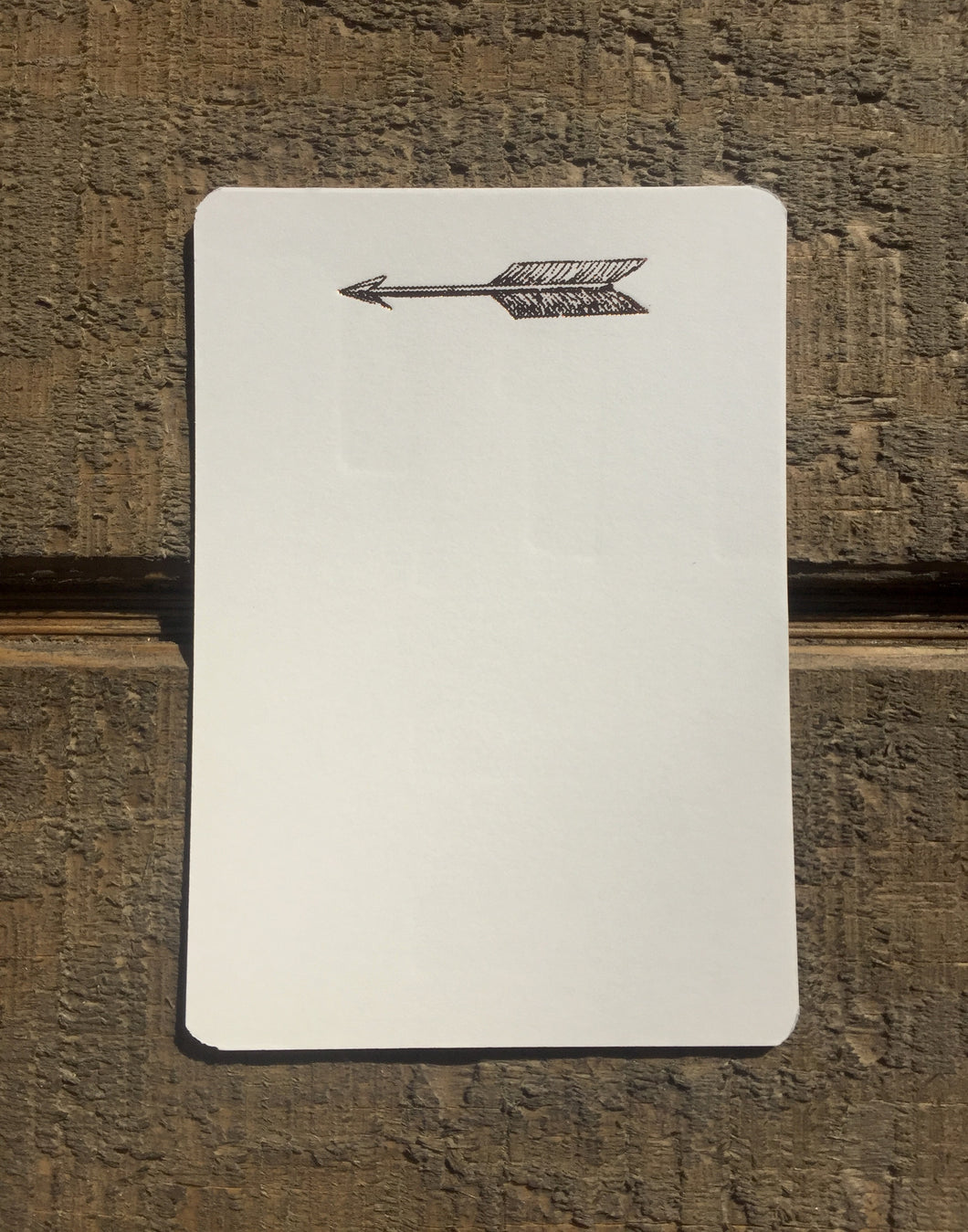 Foil Pressed Arrow Card - PARCEL
