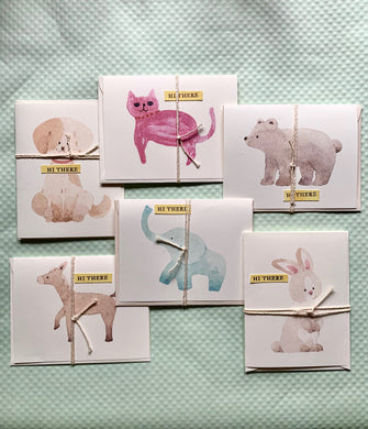 Watercolor 'hi there' cards - PARCEL