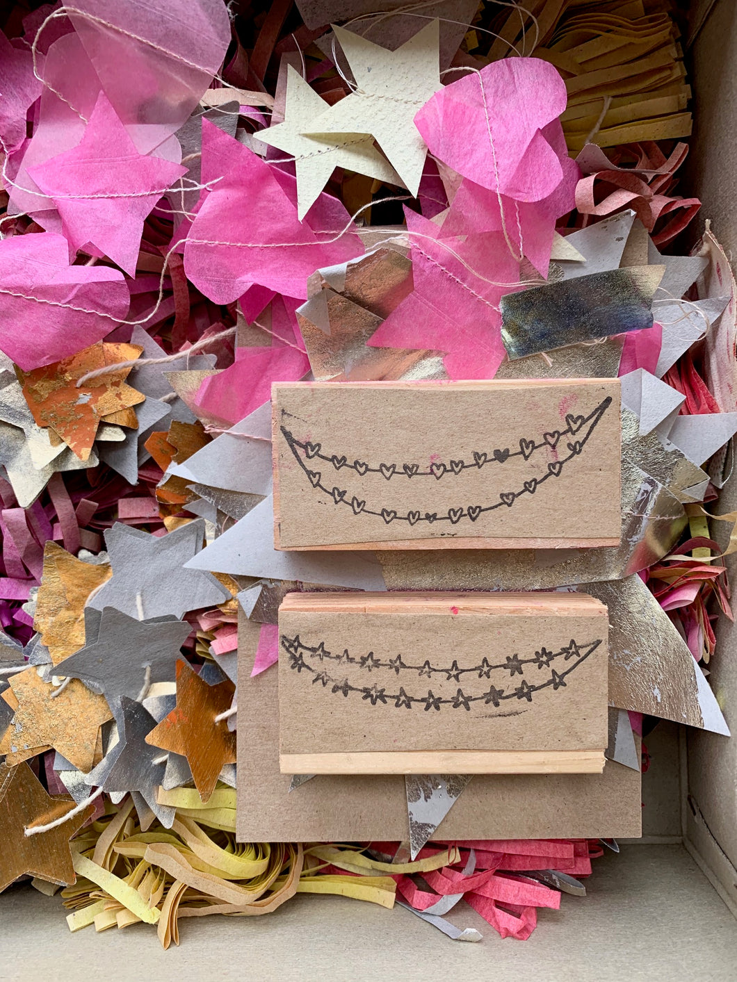 Festoon Rubber Stamps - PARCEL