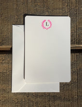 Load image into Gallery viewer, Foil-pressed laurel wreath with Initial Monogram Cards - PARCEL