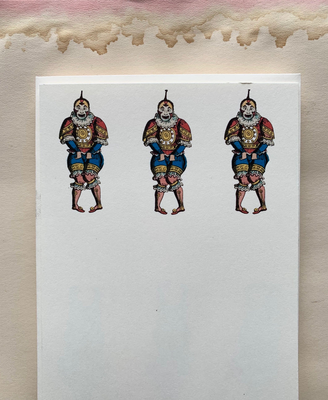 Pantomime Clowns Printed Stationery Set - PARCEL