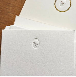 Cameo Face Blind Embossed Notecards - PARCEL