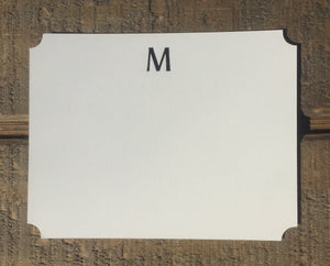 Classic Foil-pressed Initial Notecards - PARCEL