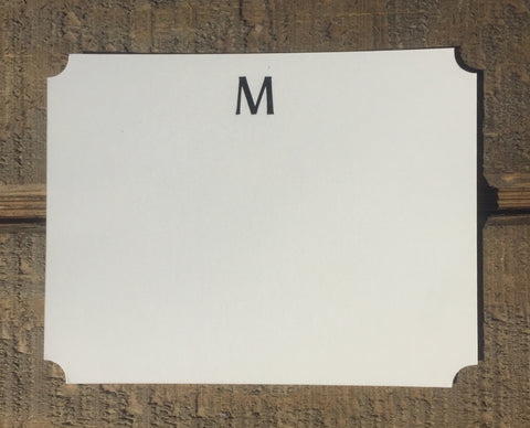 Classic Foil-pressed Initial Notecards
