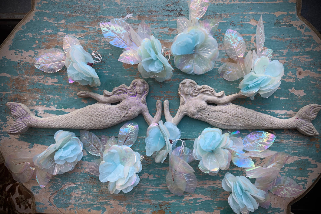 Concrete Mermaid Ornament - PARCEL