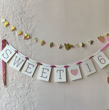 Load image into Gallery viewer, Sweet 16 Handmade Banner - PARCEL