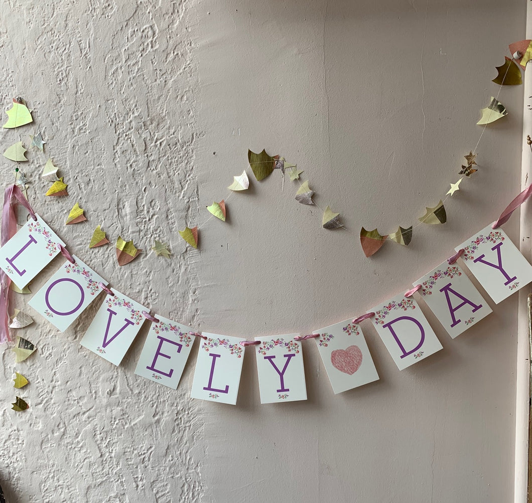 Lovely Day Handmade Banner - PARCEL