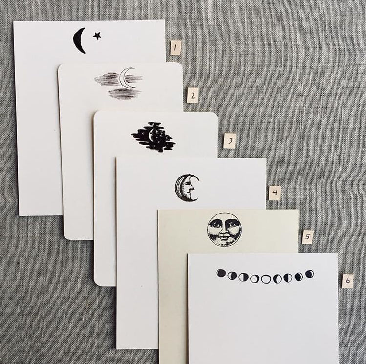 OCTOBER SALE Many Moons Stationery