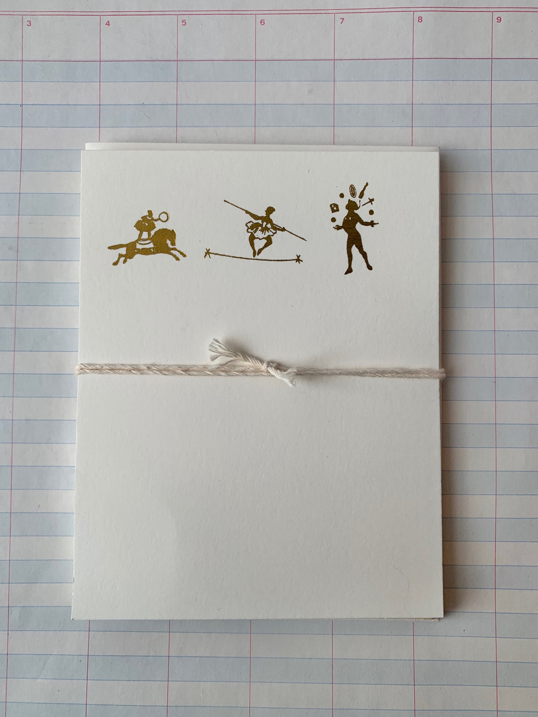 Circus Act Foil Pressed Notecards - PARCEL