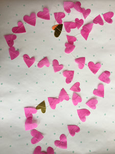 Parcel Stitched Heart Garland; MADE TO ORDER