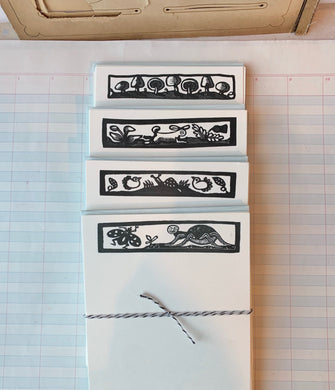 Quaint Woodcut Notecards
