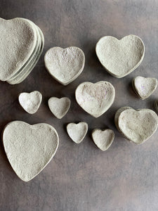 Heart-shaped Concrete Trinket dishes
