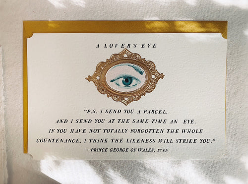 'A Lover's Eye' Framable Art Card