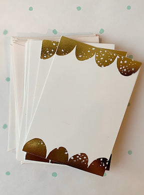 Starry Scallop Foil-pressed Notecards - PARCEL