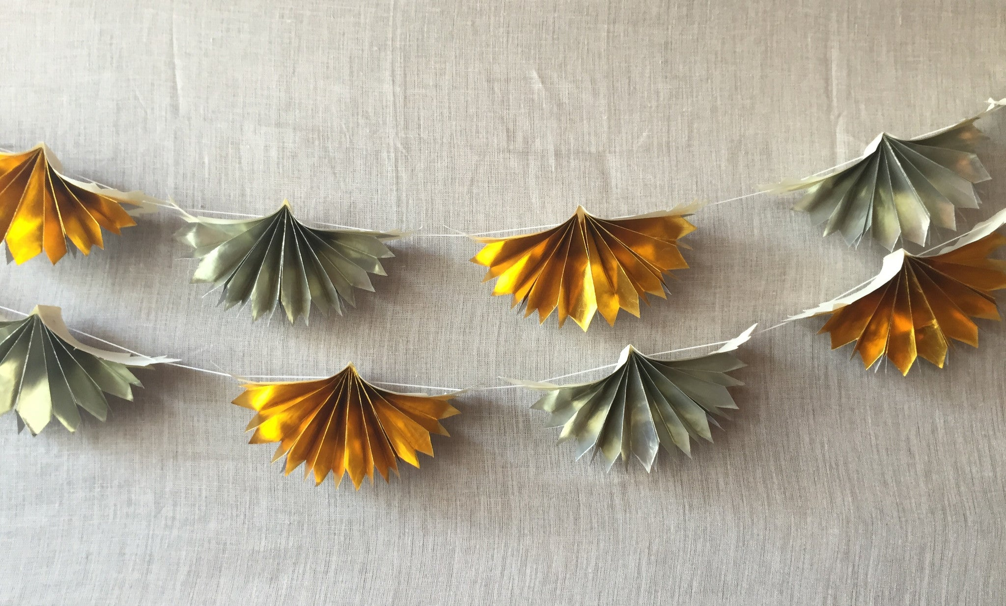 Metallic Paper Accordion Garland