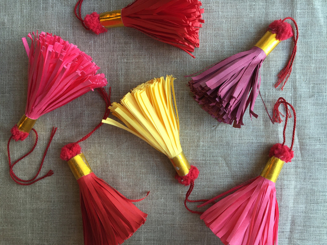 Assorted Folk Paper Tassels - PARCEL