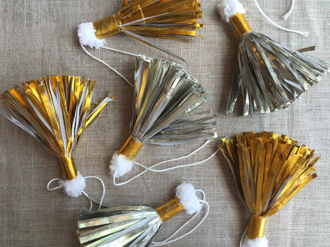 Assorted Metallic Paper Tassels