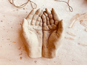 Cupped Concrete Hands - PARCEL
