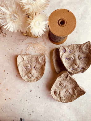 Concrete Cat Trinket Dish (Made to Order) - PARCEL