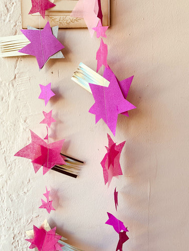 Stitched Shooting Star Garland - PARCEL