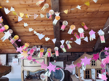 Load image into Gallery viewer, Stitched Paper Prize Ribbon Garland - Made to Order - PARCEL